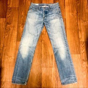 Men's Lamb & Flag Ripped Knee Straight Leg Jeans